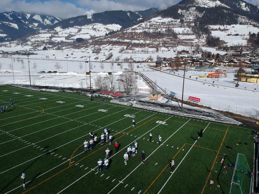 American Football Camp Drohnenansicht