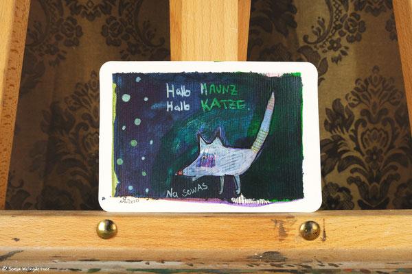 Litte Creatures No. 18  | 2020 | Mischtechnik auf Aquarellpapier | 10,8 x 14, 5 cm