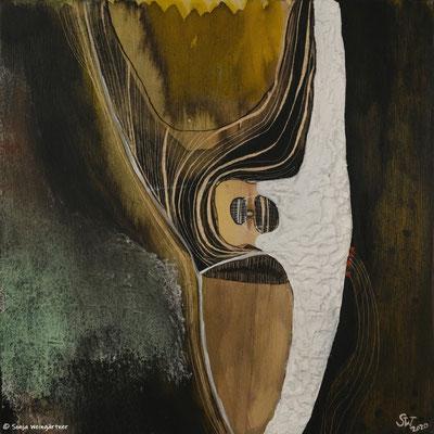 I´m a Lori on a Tree | 2020 | Gouache, Tusche auf Holz (Multiplex Birke) | 20 x 20 cm