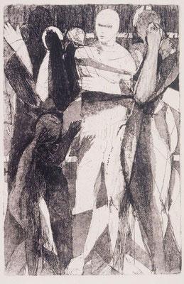 Körper I, 2000, Radierung, 24 x 16 cm, Edition 20