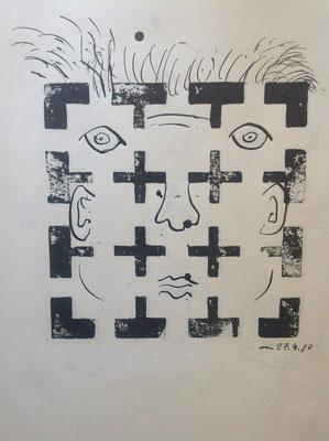 """Andy Chicken, aus """"Das Konzept der Inflation und Zweckentfremdung"""", Künstlerbücher, 1978 - 2015"""