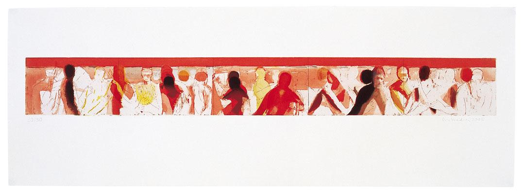 Bewegungen der Seele I, Radierung, 2005, Papierformat: 38x107,5cm, Ed. 30