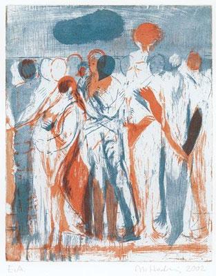 08, 2002, drei Kupferplatten, je 33 x 26,5 cm, Edition 30