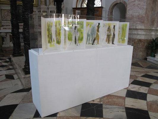 """Sterntaler, Teil des Projektes """"Fastentuch"""" im Dom zu St. Jakob, Innsbruck, 2010"""
