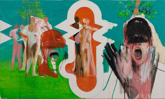 Rückschau und Vorschau, 2017, Acryl auf Leinwand, 60x100cm