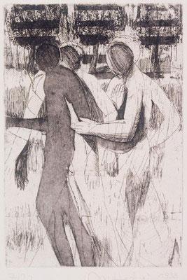 Körper II, 1999, Radierung, 24 x 16 cm, Edition 20