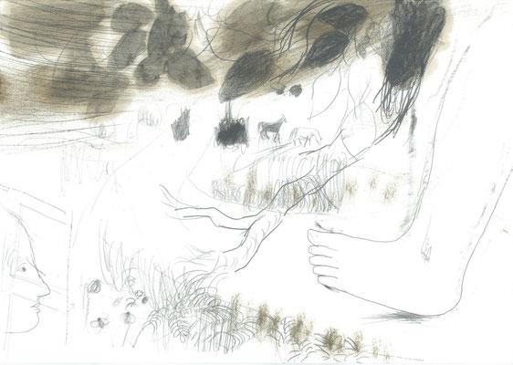 Zeichnung 1, 29,7x42cm