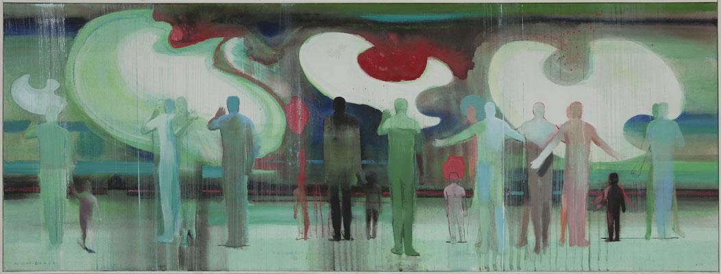 Nordlicht, 2013, Acryl auf Leinwand, 60x160cm