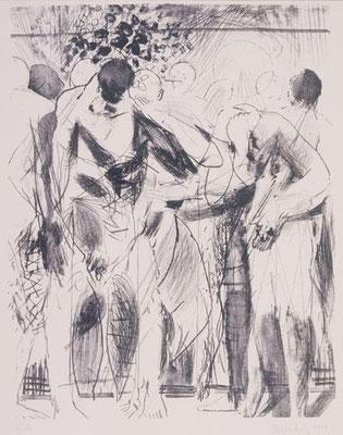 Körper II, 1997, Lithographie, 64 x 48 cm, Edition 20