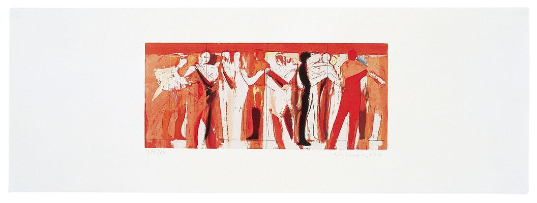 Bewegungen der Seele II, Radierung, 2005, Papierformat: 38x107,5cm, Ed. 30