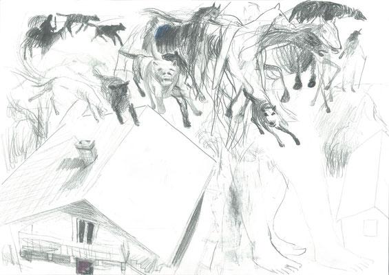 Zeichnung 9, 29,7x42cm