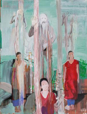 blessings of Shiv Raj Giri, 05, 2016, Acryl auf Leinwand, 190x145cm