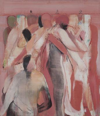 Körper-Dharma-Sangha, 2013, Acryl auf Leinwand, 140x122cm
