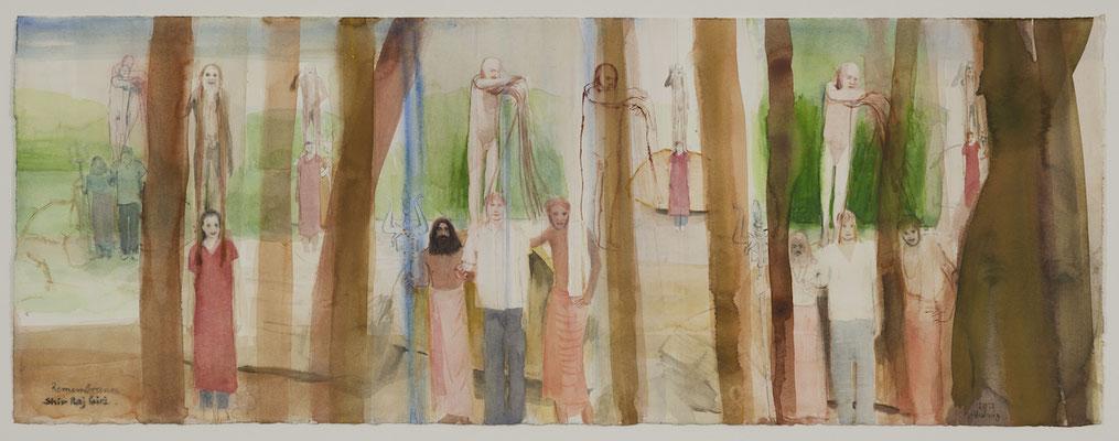 Remembrance Shiv Raj Giri, 2012,  Aquarell, 28,5x75cm