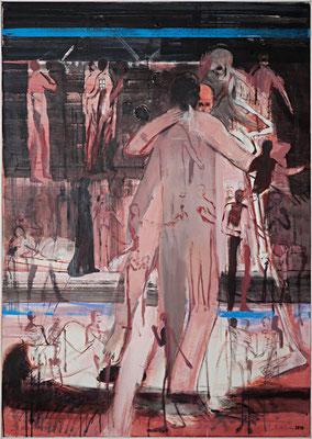 mein Tod, 2010, Acryl auf Leinwand, 140x100cm