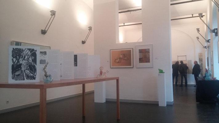 """Sterntaler, Teil der Ausstellung """"Druck und Glas"""", Neuhauser Kunstmühle, 1010 Wien, 2016"""