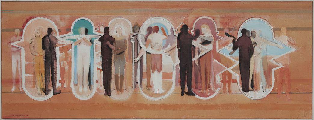 Intercommunion, 2013, Acryl auf Leinwand, 60x160cm