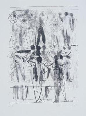 Etagen, 2000, Lithographie, 64 x 48 cm, Edition 30