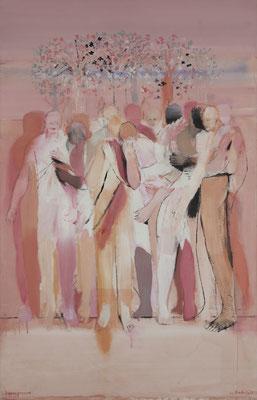Baumgrenze, 2013, Acryl auf Baumwolle, 140x90cm