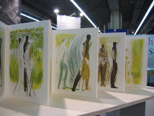 Sterntaler, Erstpräsentation bei der Frankfurter Buchmesse, 2008, vertreten durch Neuhauser Kunstmühle, Halle 4.1, Stand L130 und am Platz der Buchkunst