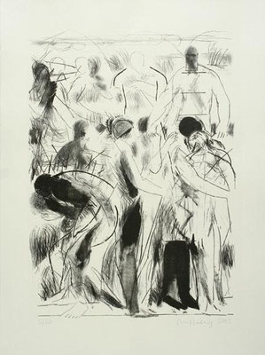In den Alpen III, 2003, Lithographie, 64 x 48 cm, Edition 30