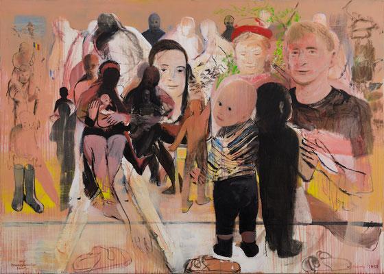 my transylvanian family, 2015, Acryl auf Leinwand, 100x140cm