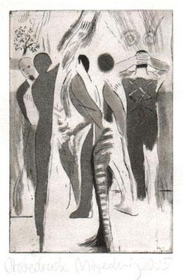 Neptuns Kinder, 2005, Radierung, 15 x 10 cm, Edition 20