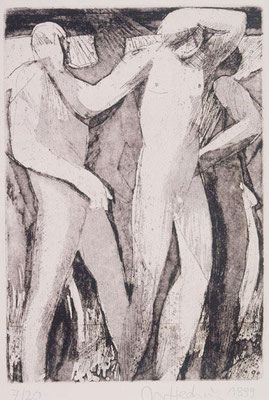 Körper III, 1999, Radierung, 24 x 16,5 cm, Edition 20
