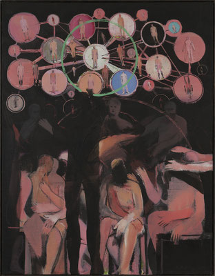 Kleines Welttheater, 2013, Acryl auf Leinwand, 90x70cm
