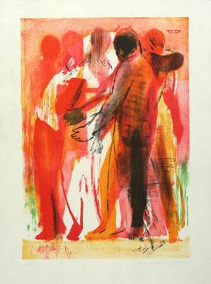 Körper ~*~ 2003, Lithographie, 4 Steine, 64 x 48 cm, Edition 30