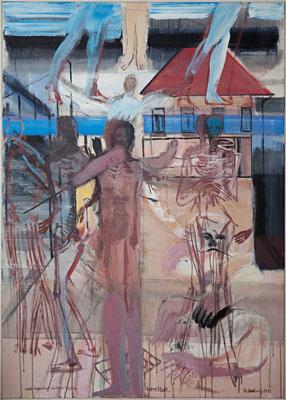 leere Stadt, 2011, Acryl auf Leinwand, 140x100cm