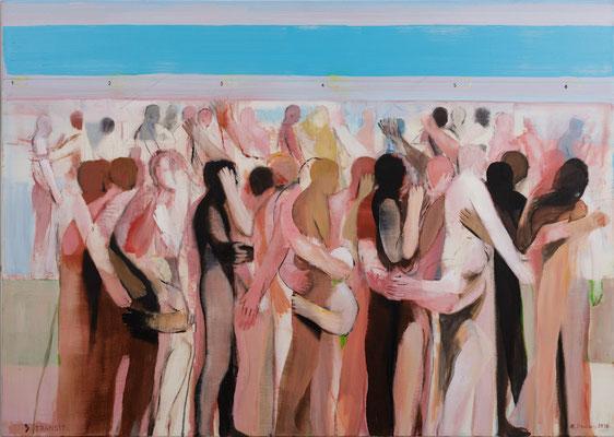 Transit, 2015, Acryl auf Leinwand, 100x140cm