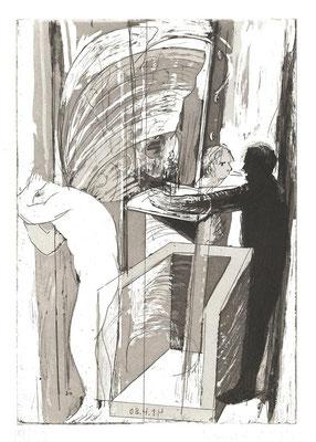 08.04.14 (nachtmahr), Radierung, Aquatinta, Kupferplatte, 20x14cm, Ed. 20
