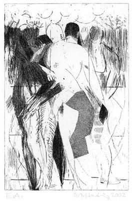 10, 2002, Kupferplatte, 30 x 20 cm, Edition 20