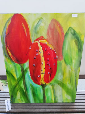 Tulpen    40 x 50 cm           verkauft                                                      45,00€