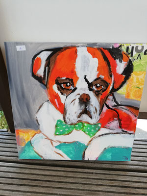 Hund  3 D Bild,   40 x 40 cm                                                                         30,00€