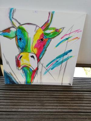 Moderne Kuh 50 x 50 cm                                                                                40,00 €
