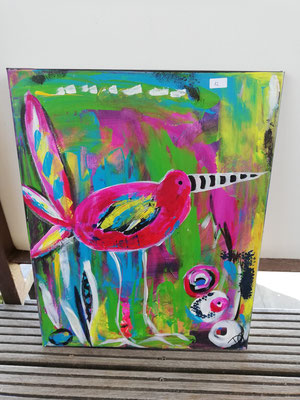 Wunder-Vogel       40 x 50 cm          verkauft!                                              40,00 €
