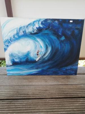 Die perfekte Welle  60x080 cm                                                                      70,00€