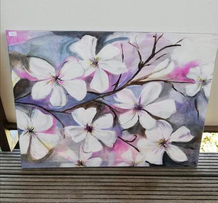 Kirschblüten  50x70 cm                                                                              60,00 €