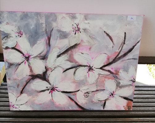 Erste Blüte  50 x 40 cm      verkauft!                                                            35,00 €