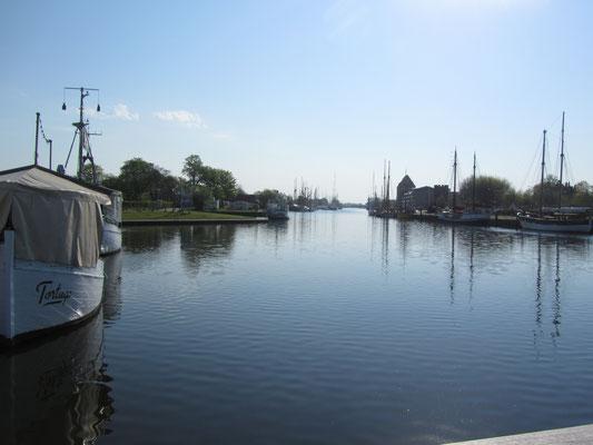 auf dem Fluss Wieck bei Greifswald
