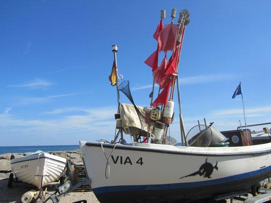 Angelboot auf Rügen