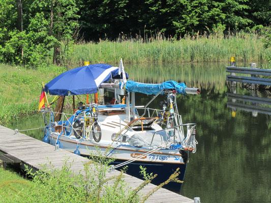 Hafen Eisvogel Finowkanal