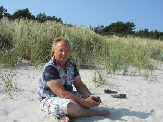 Stephan Havemann am Strand von Juliusruh