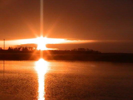 Sonnenuntergang Boddengewässer