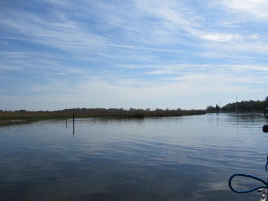 auf dem Wasser nach Greifswald
