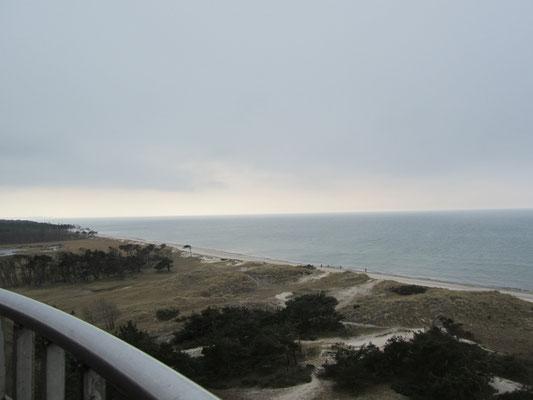 Ausblick vom Leuchtturm Darßer Ort