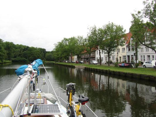 Mit dem Boot in Lübeck