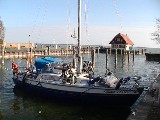 mit dem Segelboot in Born am Darß